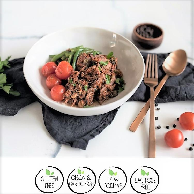 Slow Cooked Beef w/ Green Beans & Cherry Tomatoes 400g