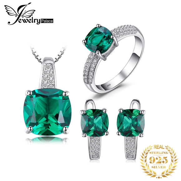 Jewelry Palace Created Emerald Ring