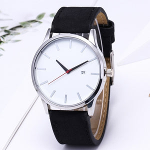 Men's Watch Sport Leather Bracelet