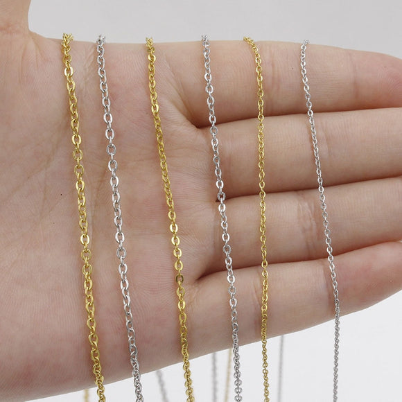 Thick Silver Chain Necklace Gold / Silver