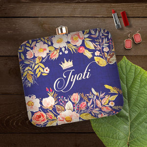 Special people must be given special gifts, This floral clutch looks more appealing with the royal blue backdrop and a crown on the text that shows that the woman in reference is a true queen . An amazing gift for the queen in your life.