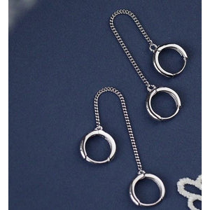 925 Sterling Double Hoops Earrings