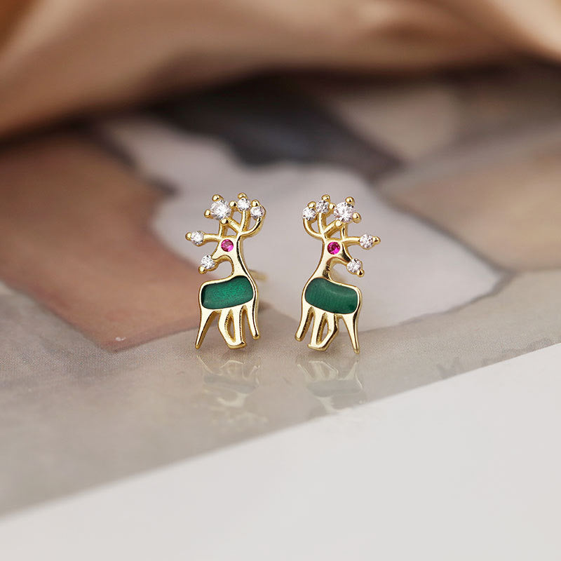 Christmas Elk Earrings