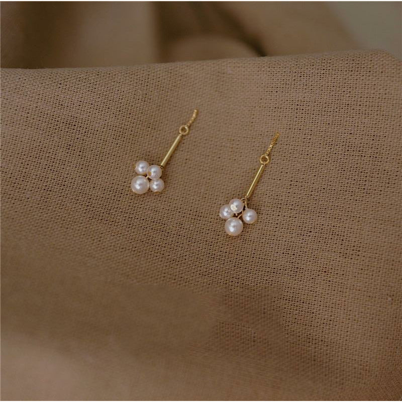 Natural Pearls Drop Earrings