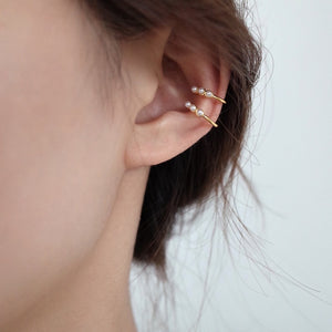 Sterling Silver Ear Cuff Earrings