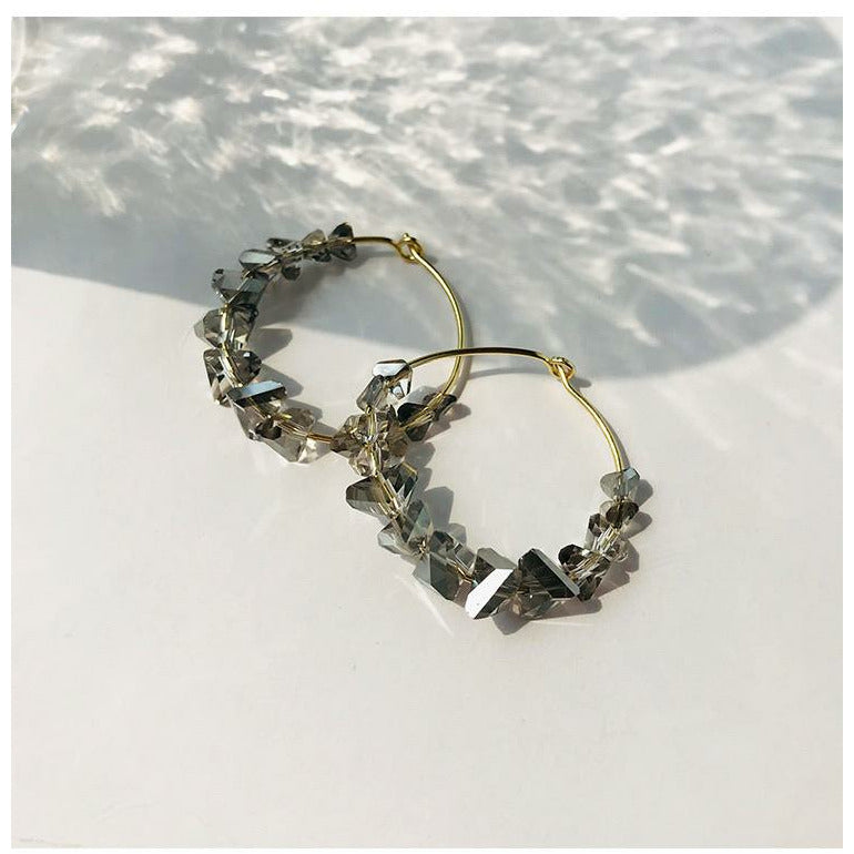 Classic Crystal Hoop Earrings
