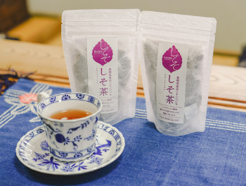 a cup of tea and product package