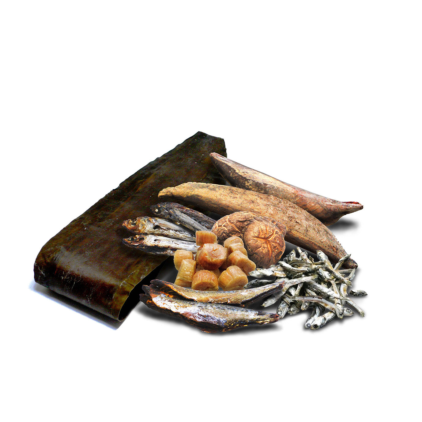 Dried fishes and seaweeds