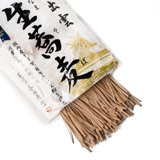 Izumo soba noodles popping out of package