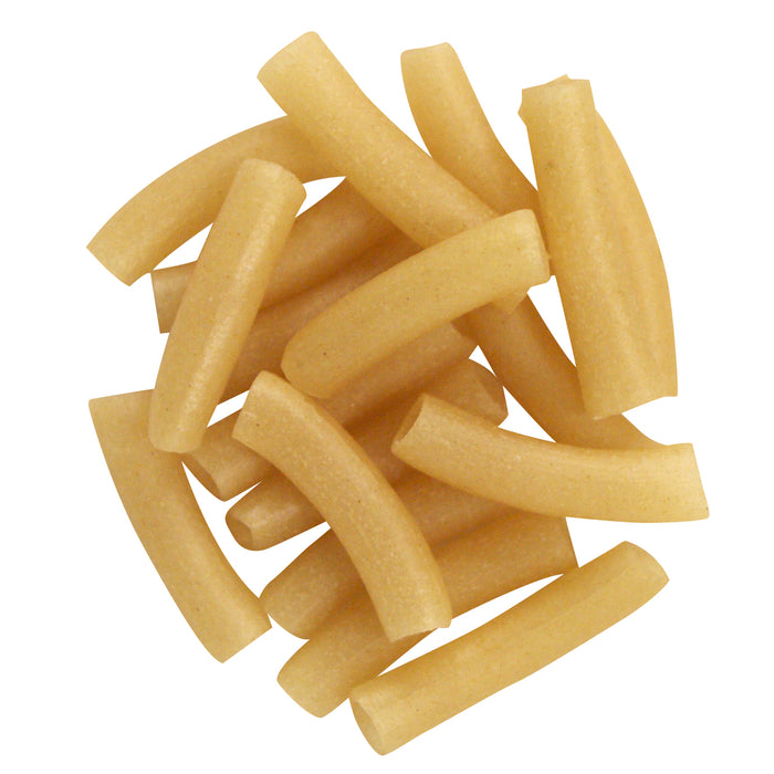 Scattered dried gluten free macaroni