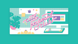 (Group Buy) Cute Keyboard Club Deskmat