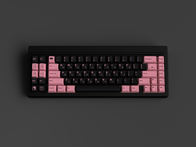 [Group Buy] GMK BLINK (Black Pink)