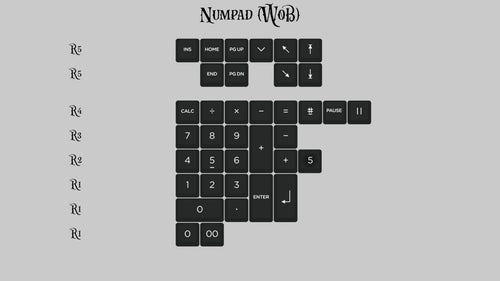 (Group Buy) KAT Monochrome Numpad Kits