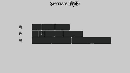 (Group Buy) KAT Monochrome Spacebars Kits