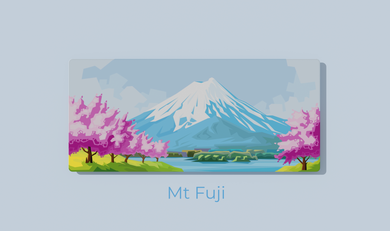 (In Stock) Serenity Series - Mt. Fuji Deskmat