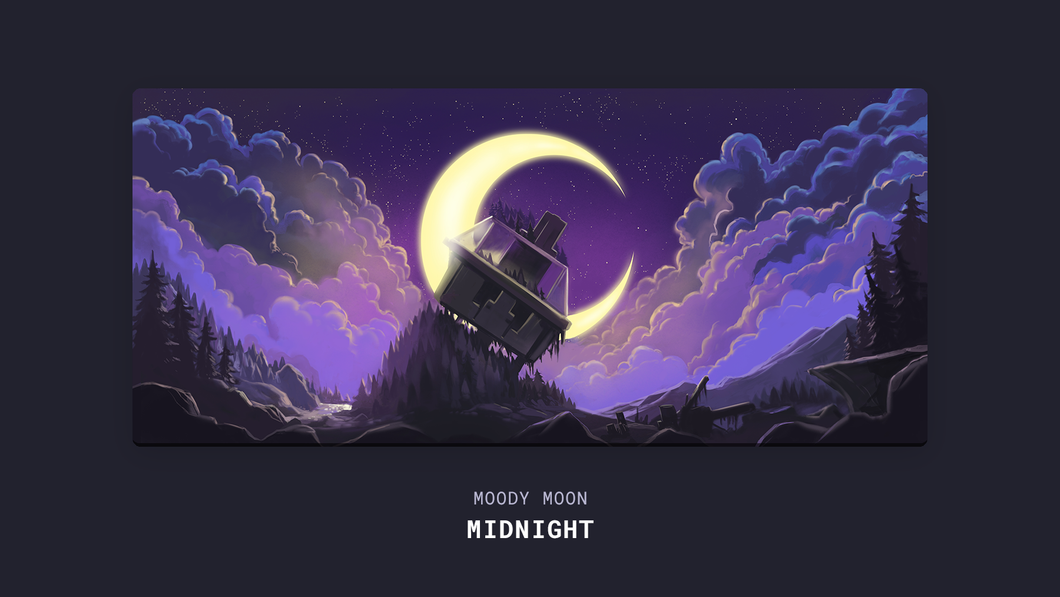 (Group Buy) Moody Moon Series Deskmat