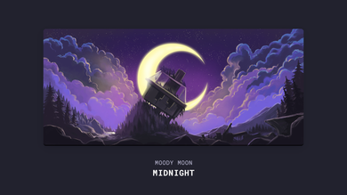 (In Stock) Moody Moon Series Deskmat