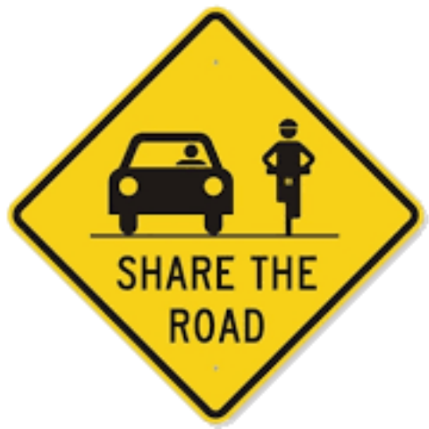 share the road, road sign