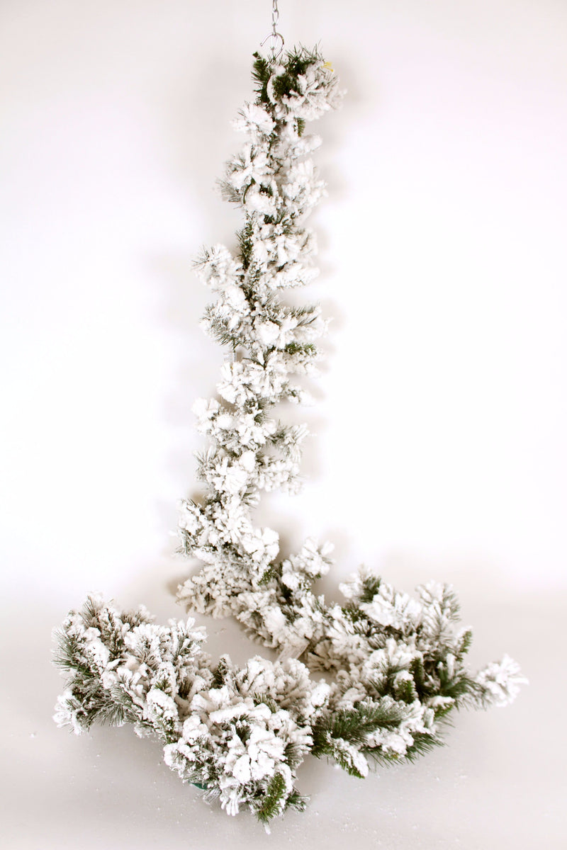 FLOCKED BALSAM PINE GARLAND