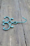 Graceful Metal Wall Hook in Bermuda Blue
