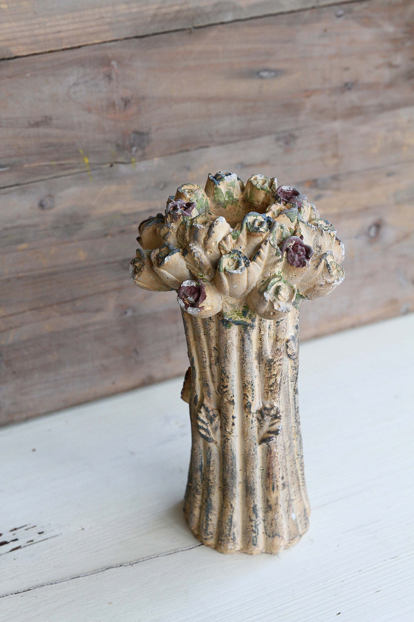 Ceramic Antique Rosebud Candleholder