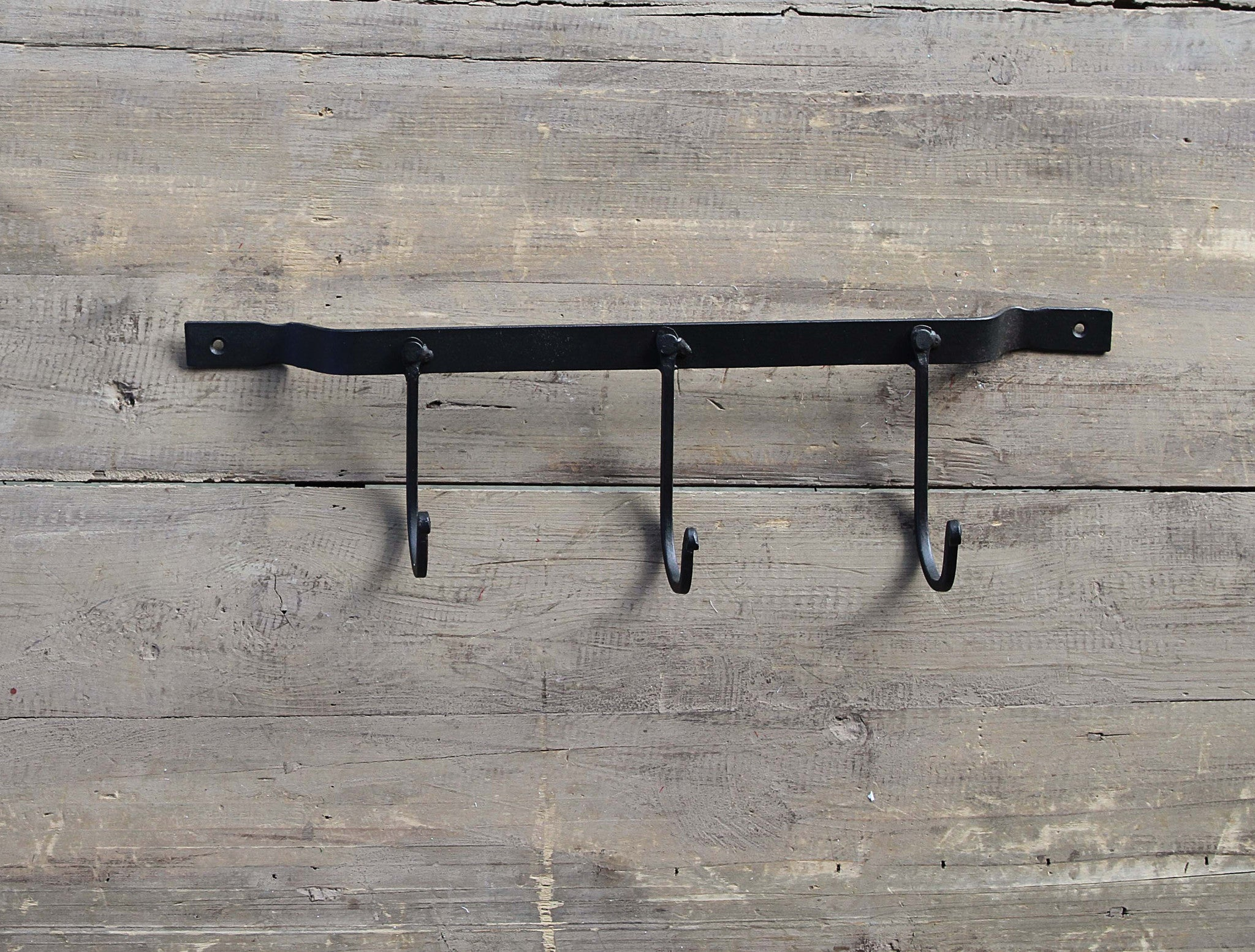 Black Metal Triple Wall Hook