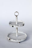 2-Tier Serving Stand in Antique White