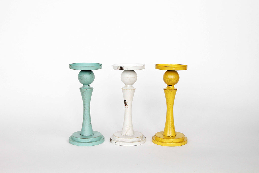 Statuesque Metal Candle Holders!