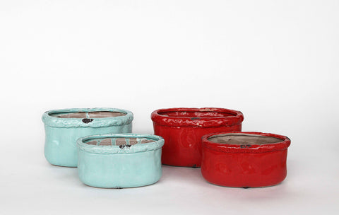 Rustic Ceramic Containers in 2 Colors