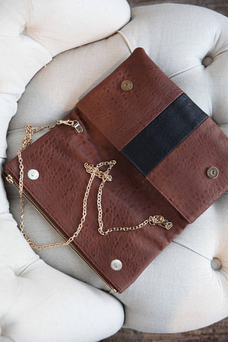 Beautiful Purse with Metal Strap