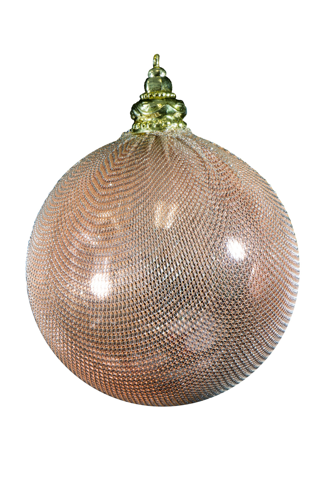 METAL MESH WRAPPED ORNAMENT BALL