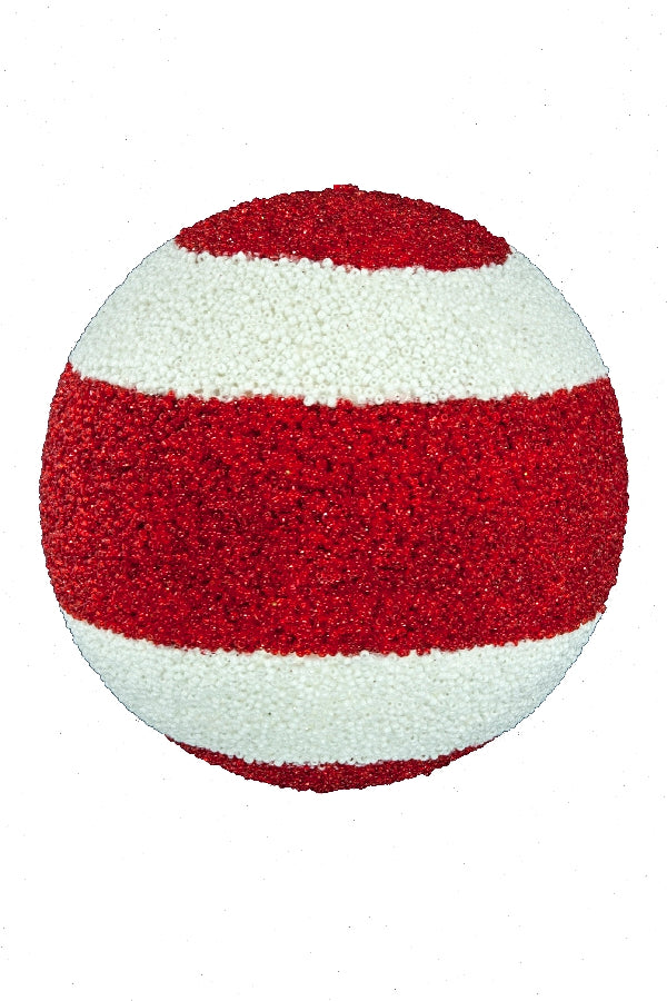 FURRY STRIPED ORNAMENT BALL