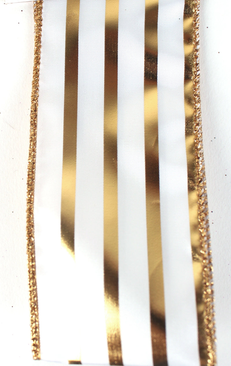 METALLIC STRIPED RIBBON