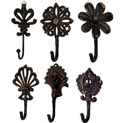 Festive Metal Wall Hooks in 6 Designs