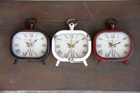 Distressed Oblong Table Clocks