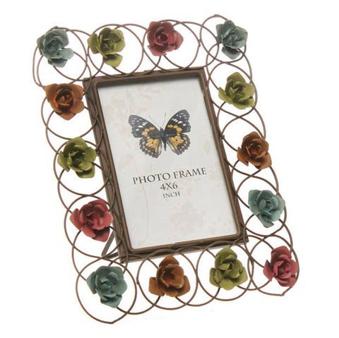 Intricate Metal Flower Frame!