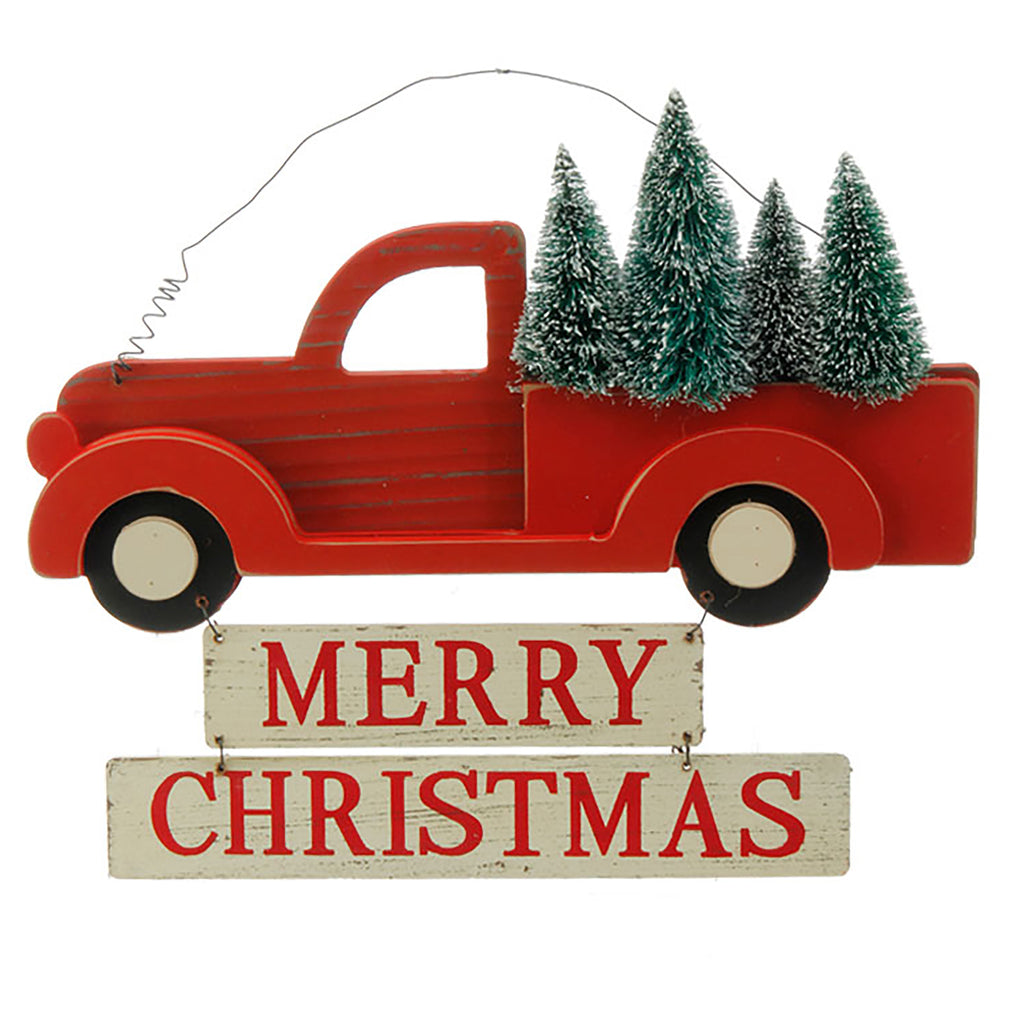 Tree Truck Merry Christmas Sign