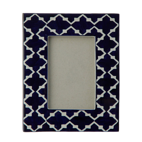 Geometric Pattern Blue & White Frames!