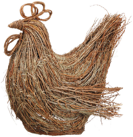 "Rustic 19"" Twig & Grass Rooster!"