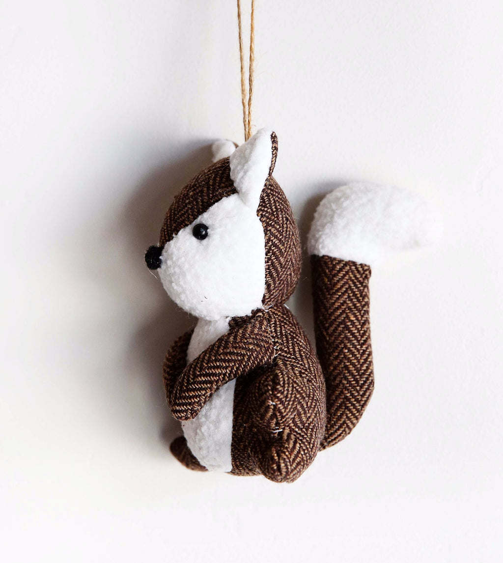 CUTE HERRINGBONE FOX ORNAMENT