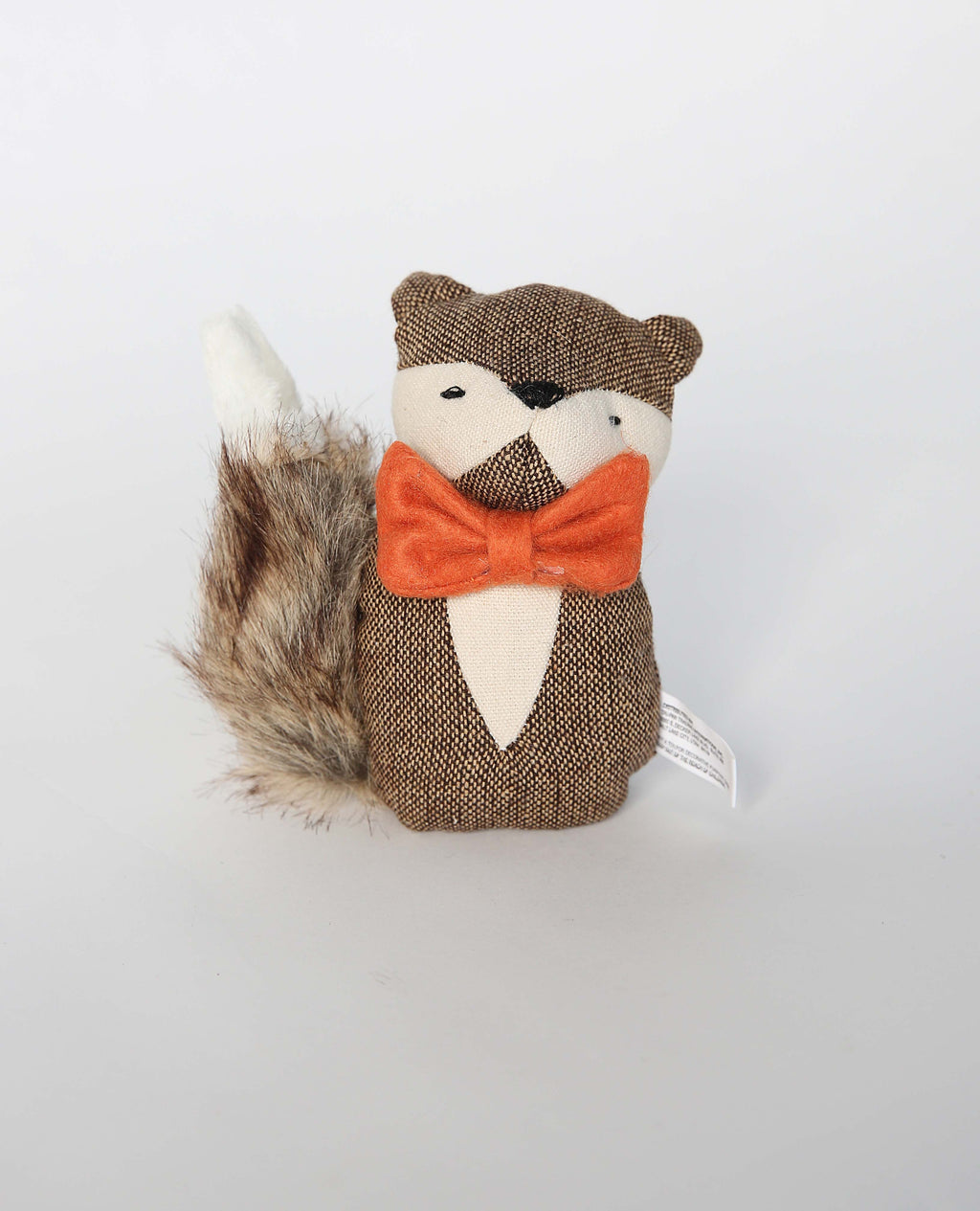 FABRIC FOX WITH FURRY TAIL