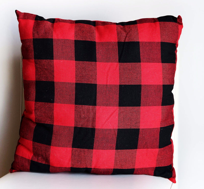 RED BUFFALO PLAID PILLOW