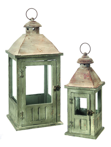 Wood  & Metal Wainscot Lanterns