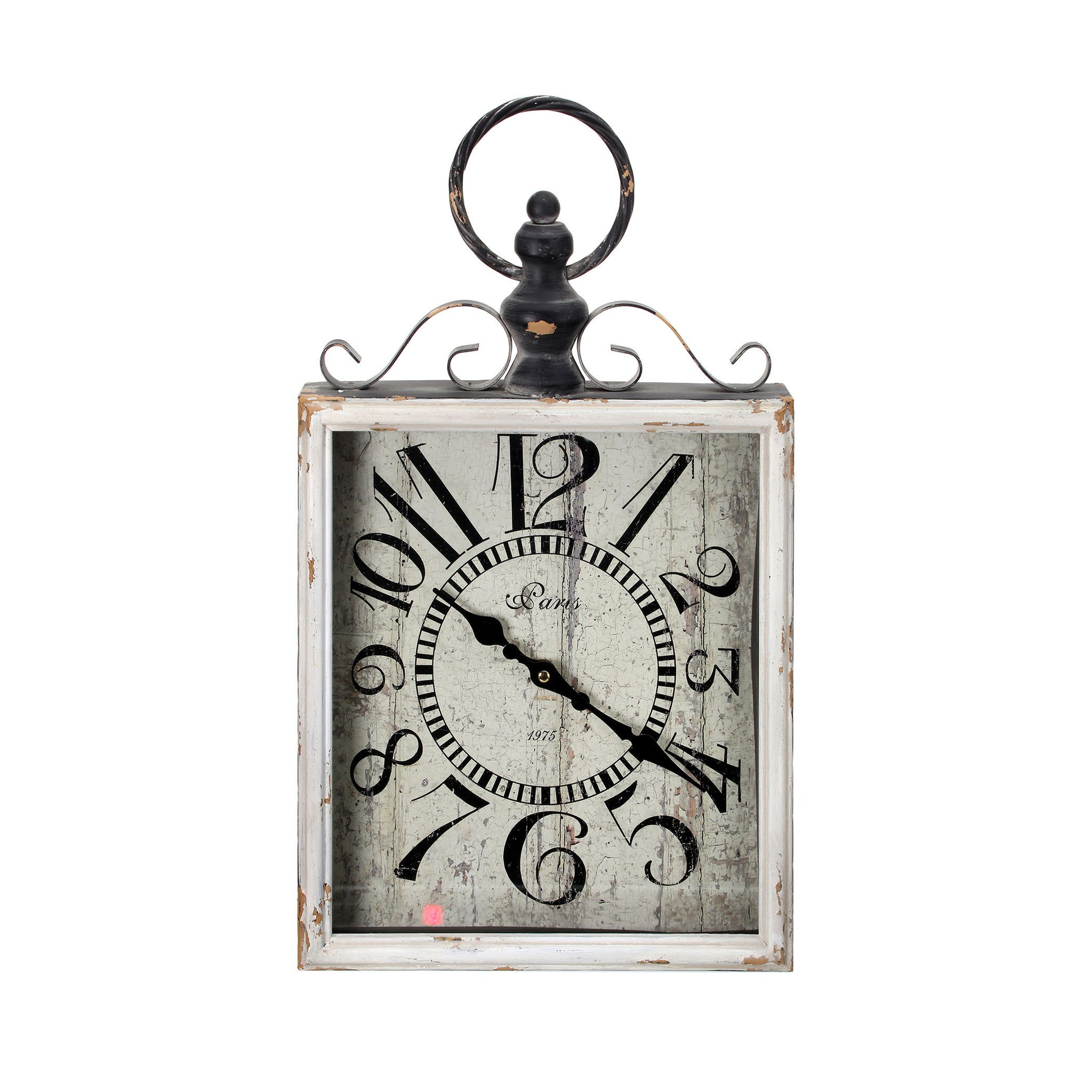 Metal & Wood Rectangular Clock