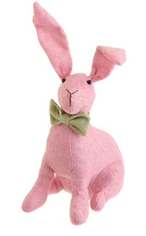 "9"" Sitting Bunny with Bow Tie!"