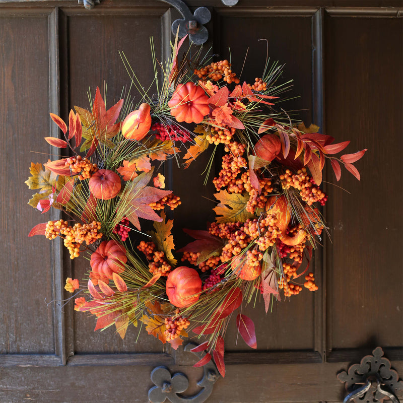 Orange Pumpkin Wreath!