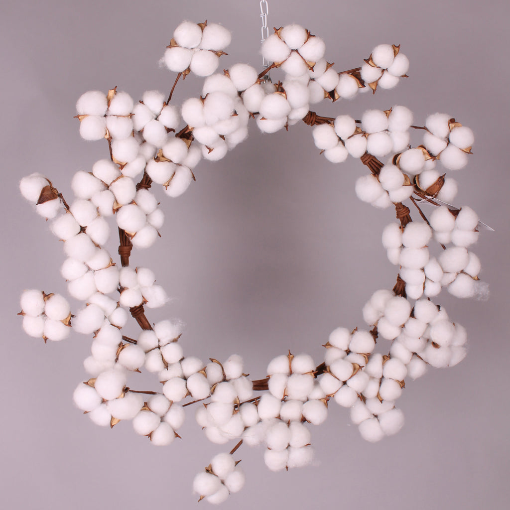 "Delicate 24"" Cotton Wreath!"