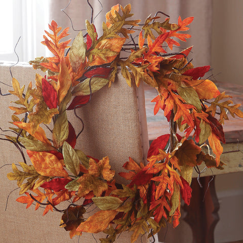 "Fabulous 24"" Fall Leaf Wreath!"