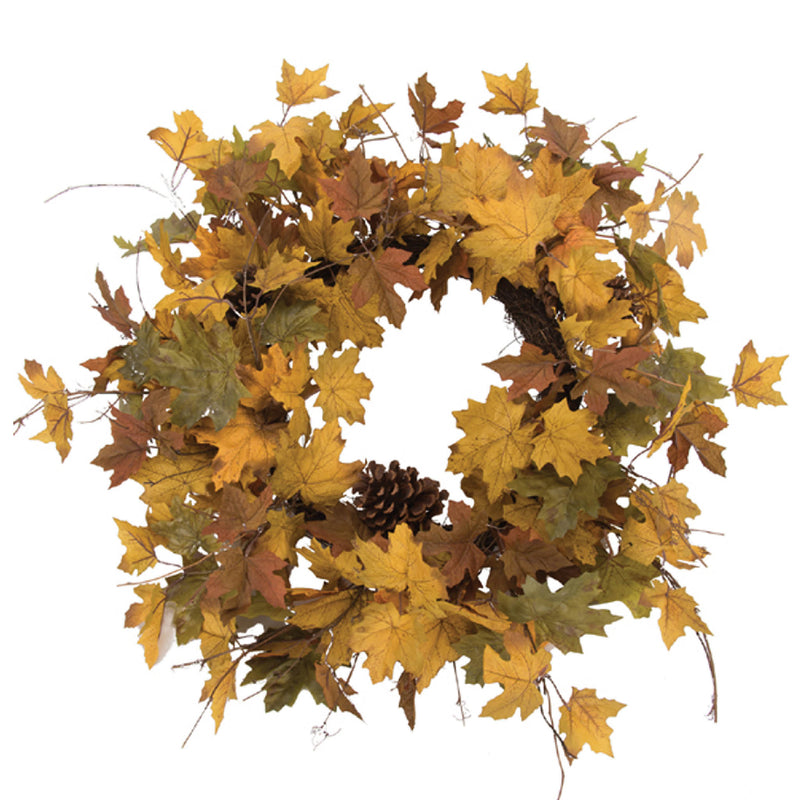 Maple Leaf & Cone Wreath!