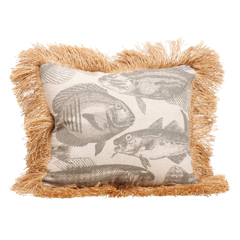 Nicely Fringed Fish Pillow!